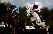 23 September 2020; N'golo, right, with Paul Townend up, jumps the last on their way to winning the Seamus Mulvaney Bookmaker Novice Hurdle ahead of Wajaaha, with Kevin Brouder up, at Listowel in Kerry. Photo by Harry Murphy/Sportsfile
