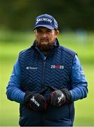 24 September 2020; Shane Lowry of Ireland wears hand warmers throughout his round during day one of the Dubai Duty Free Irish Open Golf Championship at Galgorm Spa & Golf Resort in Ballymena, Antrim. Photo by Brendan Moran/Sportsfile