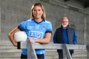 24 September 2020; AIG Insurance today launched the 2020 Dublin All-Ireland GAA Season with a tribute to club volunteers, members and frontline workers. GAA Volunteer Jerry Grogan and Dublin ladies' footballer Jennifer Dunne were in Parnell Park as part of the launch. Photo by Stephen McCarthy/Sportsfile