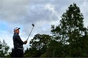 24 September 2020; James Sugrue of Ireland watches his drive on the 10th tee box during day one of the Dubai Duty Free Irish Open Golf Championship at Galgorm Spa & Golf Resort in Ballymena, Antrim. Photo by Brendan Moran/Sportsfile