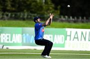 26 September 2020; Tyrone Kane of Leinster Lightning catches out Neil Rock of Northern Knights during the Test Triangle Inter-Provincial Series 50 over match between Leinster Lightning and Northern Knights at Malahide Cricket Club in Dublin. Photo by Sam Barnes/Sportsfile