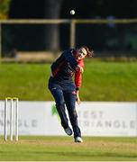 26 September 2020; Karl Robinson of Northern Knights bowls during the Test Triangle Inter-Provincial Series 50 over match between Leinster Lightning and Northern Knights at Malahide Cricket Club in Dublin. Photo by Sam Barnes/Sportsfile