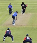 26 September 2020; Kevin O'Brien of Leinster Lightning is bowled LBW by Mark Adair of Northern Knights during the Test Triangle Inter-Provincial Series 50 over match between Leinster Lightning and Northern Knights at Malahide Cricket Club in Dublin. Photo by Sam Barnes/Sportsfile