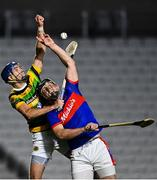 26 September 2020; Eoghan Murphy of Erin's Own in action against Stephen McDonnell of Glen Rovers during the Cork County Premier Senior Hurling Championship Semi-Final match between Glen Rovers and Erins Own at Páirc Ui Chaoimh in Cork. Photo by Eóin Noonan/Sportsfile