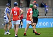 20 September 2020; Referee Seán Stack shows the red card to Conal Keaney of Ballyboden St Enda's, left, for a second yellow card offence during the Dublin County Senior Hurling Championship Final match between Ballyboden St Enda's and Cuala at Parnell Park in Dublin. Photo by Piaras Ó Mídheach/Sportsfile
