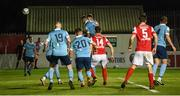 26 September 2020; Rory Feely of St Patrick's Athletic scores his side's second goal during the SSE Airtricity League Premier Division match between St Patrick's Athletic and Shelbourne at Richmond Park in Dublin. Photo by Stephen McCarthy/Sportsfile
