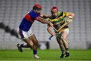 26 September 2020; Dale Tynan of Glen Rovers is tackled by James O'Carroll of Erin's Own during the Cork County Premier Senior Hurling Championship Semi-Final match between Glen Rovers and Erins Own at Páirc Ui Chaoimh in Cork. Photo by Eóin Noonan/Sportsfile