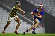 26 September 2020; Cian O'Connor of Erin's Own in action against Simon Kennefick of Glen Rovers during the Cork County Premier Senior Hurling Championship Semi-Final match between Glen Rovers and Erins Own at Páirc Ui Chaoimh in Cork. Photo by Eóin Noonan/Sportsfile