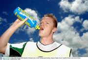 23 May 2002; Damien Duff, Republic of Ireland, takes a break  during squad training. Adagym, Saipan. Soccer. Cup2002. Picture credit; David Maher / SPORTSFILE *EDI*