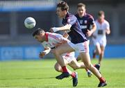 27 September 2020; Paddy Andrews of St Brigid's is tackled by Michael Fitzsimons of Cuala during the Dublin County Senior 2 Football Championship Final match between Cuala and St Brigid's at Parnell Park in Dublin. Photo by Piaras Ó Mídheach/Sportsfile