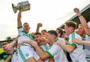 27 September 2020; Ballyhale Shamrocks captain Richie Reid is lifted up by his team-mates following their side's victory during the Kilkenny County Senior Hurling Championship Final match between Ballyhale Shamrocks and Dicksboro at UPMC Nowlan Park in Kilkenny. Photo by Seb Daly/Sportsfile