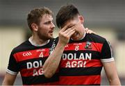 27 September 2020; Dan Nevin, right, and Declan Cronin of Cappataggle react following the Galway County Senior Hurling Championship Semi-Final match between St Thomas and Cappataggle at Kenny Park in Athenry, Galway. Photo by Harry Murphy/Sportsfile