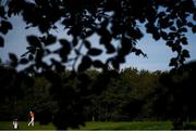 27 September 2020; Jazz Janewattananond of Thailand plays his second shot to the eighth hole during day four of the Dubai Duty Free Irish Open Golf Championship at Galgorm Spa & Golf Resort in Ballymena, Antrim. Photo by Brendan Moran/Sportsfile