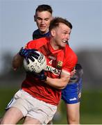 27 September 2020; Conor Keenan of Ardee St Mary's in action against Conor Whelan of Naomh Mairtin during the Louth County Senior Football Championship Final match between Naomh Mairtin and Ardee St Mary's at Darver Louth Centre of Excellence in Louth. Photo by Ben McShane/Sportsfile