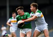 27 September 2020; John McGrath of Loughmore-Castleiney in action against Liam Ryan of Clonmel Commercials during the Tipperary County Senior Football Championship Final match between Clonmel Commercials and Loughmore-Castleiney at Semple Stadium in Thurles, Tipperary. Photo by Ray McManus/Sportsfile