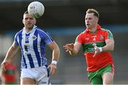 27 September 2020; Philly McMahon of Ballymun Kickhams in action against Conal Keaney of Ballyboden St Enda's during the Dublin County Senior 1 Football Championship Final match between Ballyboden St Enda's and Ballymun Kickhams at Parnell Park in Dublin. Photo by Piaras Ó Mídheach/Sportsfile