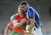 27 September 2020; Conal Keaney of Ballyboden St Enda's is shouldered by John Small of Ballymun Kickhams during the Dublin County Senior 1 Football Championship Final match between Ballyboden St Enda's and Ballymun Kickhams at Parnell Park in Dublin. Photo by Piaras Ó Mídheach/Sportsfile