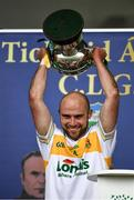 27 September 2020; The Clonmel Commercials captain Jamie Peters lifts the O'Dwyer Cup after the Tipperary County Senior Football Championship Final match between Clonmel Commercials and Loughmore-Castleiney at Semple Stadium in Thurles, Tipperary. Photo by Ray McManus/Sportsfile