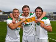 27 September 2020; Kevin Fahey, left, Coleman Kennedy and Ross Peters, right, of Clonmel Commercials after the Tipperary County Senior Football Championship Final match between Clonmel Commercials and Loughmore-Castleiney at Semple Stadium in Thurles, Tipperary. Photo by Ray McManus/Sportsfile