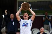 27 September 2020; St Loman's Mullingar captain John Heslin lifts the trophy following his side's victory in the Westmeath County Senior Football Championship Final match between Tyrrelspass and St Loman's Mullingar at TEG Cusack Park in Mullingar, Westmeath. Photo by Ramsey Cardy/Sportsfile