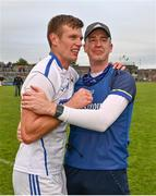 27 September 2020; St Loman's Mullingar captain John Heslin and manager Declan Kelly following the Westmeath County Senior Football Championship Final match between Tyrrelspass and St Loman's Mullingar at TEG Cusack Park in Mullingar, Westmeath. Photo by Ramsey Cardy/Sportsfile