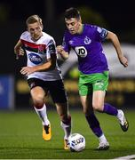 27 September 2020; Gary O'Neill of Shamrock Rovers in action against John Mountney of Dundalk during the SSE Airtricity League Premier Division match between Dundalk and Shamrock Rovers at Oriel Park in Dundalk, Louth. Photo by Ben McShane/Sportsfile
