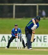 28 September 2020; William Porterfield of North West Warriors plays a shot during the Test Triangle Inter-Provincial Series 50 over match between Leinster Lightning and North-West Warriors at Malahide Cricket in Dublin. Photo by Sam Barnes/Sportsfile