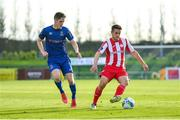 26 September 2020; Regan Donelan of Sligo Rovers in action against John Martin of Waterford during the SSE Airtricity League Premier Division match between Waterford and Sligo Rovers at the RSC in Waterford. Photo by Seb Daly/Sportsfile