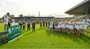 27 September 2020; Ballyhale Shamrocks captain Richie Reid, left, makes a speech following their side's victory during the Kilkenny County Senior Hurling Championship Final match between Ballyhale Shamrocks and Dicksboro at UPMC Nowlan Park in Kilkenny. Photo by Seb Daly/Sportsfile