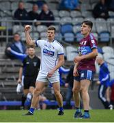 27 September 2020; John Heslin of St Loman's Mullingar celebrates a late score during the Westmeath County Senior Football Championship Final match between Tyrrelspass and St Loman's Mullingar at TEG Cusack Park in Mullingar, Westmeath. Photo by Ramsey Cardy/Sportsfile