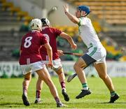 27 September 2020; Brian Cody of Ballyhale Shamrocks in action against Conor Doheny and Robbie Fitzpatrick of Dicksboro during the Kilkenny County Senior Hurling Championship Final match between Ballyhale Shamrocks and Dicksboro at UPMC Nowlan Park in Kilkenny. Photo by Seb Daly/Sportsfile