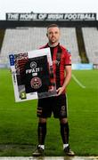 2 October 2020; SSE Airtricity League FIFA 21 Club Packs are back. Featuring the individual club crest of all 10 Premier Division teams, these exclusive sleeves will be available to download free from https://www.ea.com/games/fifa/fifa-21 when the game launches Friday, 9th October! Keith Ward of Bohemians at the launch in Dalymount Park, Dublin. Photo by Stephen McCarthy/Sportsfile