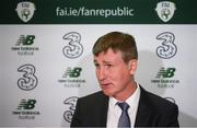 29 September 2020; Republic of Ireland manager Stephen Kenny during his squad announcement press conference at FAI Headquarters in Abbotstown, Dublin. Photo by Stephen McCarthy/Sportsfile