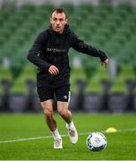 30 September 2020; Stefan Colovic during a Dundalk training session at the Aviva Stadium in Dublin. Photo by Stephen McCarthy/Sportsfile