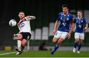 1 October 2020; Sean Murray of Dundalk in action against Jákup Andreasen of Ki Klaksvik during the UEFA Europa League Play-off match between Dundalk and Ki Klaksvik at the Aviva Stadium in Dublin. Photo by Ben McShane/Sportsfile