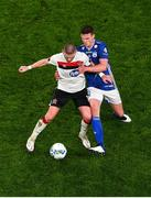 1 October 2020; Sean Murray of Dundalk in action against Deni Pavlovic of Ki Klaksvik during the UEFA Europa League Play-off match between Dundalk and Ki Klaksvik at the Aviva Stadium in Dublin. Photo by Eóin Noonan/Sportsfile