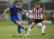 2 October 2020; Matthew Smith of Waterford in action against Conor Clifford of Derry City during the SSE Airtricity League Premier Division match between Derry City and Waterford at Ryan McBride Brandywell Stadium in Derry. Photo by Piaras Ó Mídheach/Sportsfile