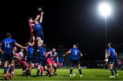 2 October 2020; James Ryan of Leinster and Aaron Wainright of Dragons battle for possession of a lineout during the Guinness PRO14 match between Leinster and Dragons at the RDS Arena in Dublin. Photo by Harry Murphy/Sportsfile