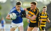 3 October 2020; John Oates of Kingscourt in action against Cian Boylan of Crosserlough during the Cavan County Senior Football Championship Final Replay match between Crosserlough and Kingscourt at Kingspan Breffni in Cavan. Photo by Matt Browne/Sportsfile