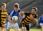 3 October 2020; Kevin Curtis of Kingscourt in action against David Shalvey of Crosserlough during the Cavan County Senior Football Championship Final Replay match between Crosserlough and Kingscourt at Kingspan Breffni in Cavan. Photo by Matt Browne/Sportsfile