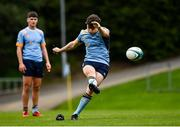 3 October 2020; Tim Corkery of UCD kicks a penalty during the Energia Community Series Leinster Conference 1 match between UCD and Old Belvedere at UCD Bowl in Belfield, Dublin. Photo by Harry Murphy/Sportsfile