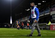 2 October 2020; Leinster academy player Niall Comerford, working as a member of the ball team, during the Guinness PRO14 match between Leinster and Dragons at the RDS Arena in Dublin. Photo by Harry Murphy/Sportsfile