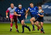 2 October 2020; James Lowe of Leinster makes a break during the Guinness PRO14 match between Leinster and Dragons at the RDS Arena in Dublin. Photo by Brendan Moran/Sportsfile