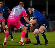 2 October 2020; Michael Bent of Leinster in action against Brok Harris of Dragons during the Guinness PRO14 match between Leinster and Dragons at the RDS Arena in Dublin. Photo by Brendan Moran/Sportsfile