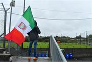 4 October 2020; A Gaeil Colmcille supporter watches his team warm-up prior to the Meath County Senior Football Championship Final match between Ratoath and Gaeil Colmcille at Páirc Táilteann in Navan, Meath. Photo by Brendan Moran/Sportsfile