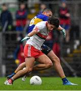 4 October 2020; Oisín Reilly of Gaeil Colmcille is fouled by Gavin McGowan of Ratoath during the Meath County Senior Football Championship Final match between Ratoath and Gaeil Colmcille at Páirc Táilteann in Navan, Meath. Photo by Brendan Moran/Sportsfile