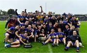 4 October 2020; The Ratoath team celebrate with the cup following the Meath County Senior Football Championship Final match between Ratoath and Gaeil Colmcille at Páirc Táilteann in Navan, Meath. Photo by Brendan Moran/Sportsfile