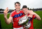 4 October 2020; Conor Cooney, left, and Oisin Flannery of St Thomas' celebrate following the Galway County Senior Hurling Championship Final match between Turloughmore and St Thomas at Kenny Park in Athenry, Galway. Photo by David Fitzgerald/Sportsfile