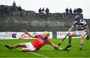 4 October 2020; Cian Mahony of St Thomas' in action against Sean Loftus of Turloughmore during the Galway County Senior Hurling Championship Final match between Turloughmore and St Thomas at Kenny Park in Athenry, Galway. Photo by David Fitzgerald/Sportsfile