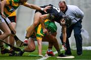 4 October 2020; Jamie Ryan of Blackrock in action against Simon Kennefick of Glen Rovers during the Cork County Premier Senior Club Hurling Championship Final match between Glen Rovers and Blackrock at Páirc Ui Chaoimh in Cork. Photo by Sam Barnes/Sportsfile